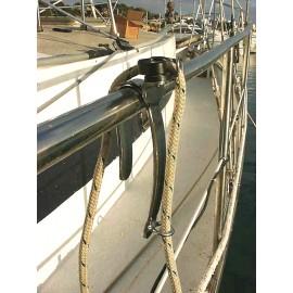 Fender holder for railing tubes
