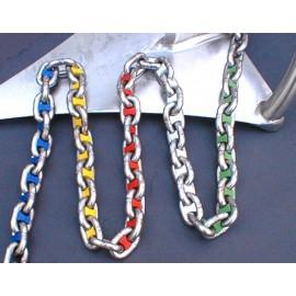 Marquer chaîne en différentes couleurs pour chaîne de 6 mm