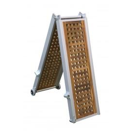 Gangway Modell Classic Teak klappbar und 2x klappbar 3m