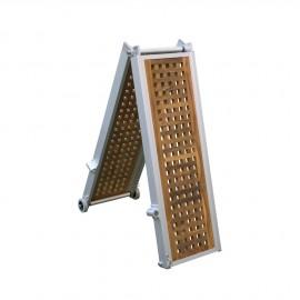 Passerelle modelle Classique Teak pliable et 2x plieable 3m