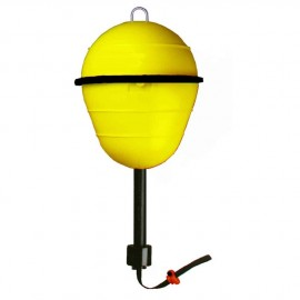Automatic marking buoy with auto retrieving extension mechanism